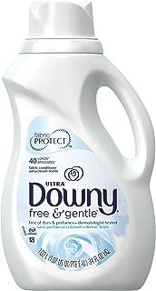 Downy Free & Gentle Liquid Fabric Conditioner for Sensitive Skin, 34 Fl Oz