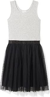 black and white striped tutu dress