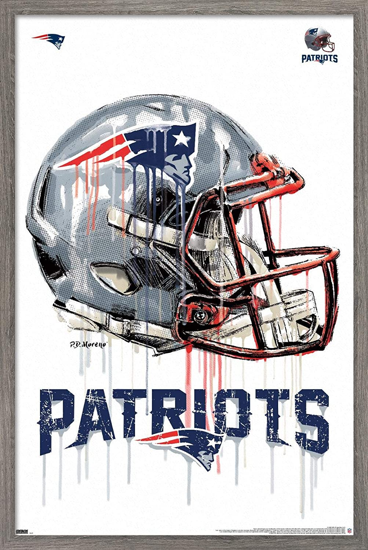Trends International NFL New England Patriots - Drip Helmet 20 Wall Poster, 22.375