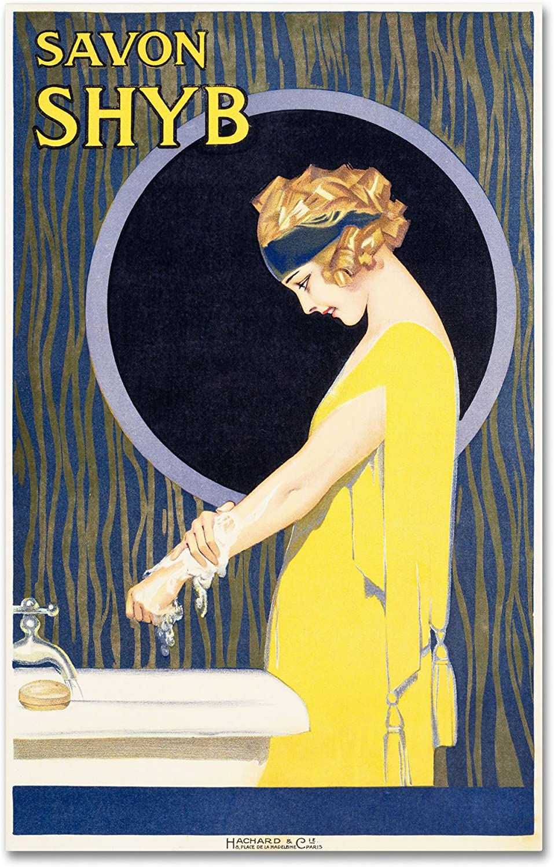 by Poster Art Print Vintage Poster Savon Shyb Vintage Advertising Home Soap