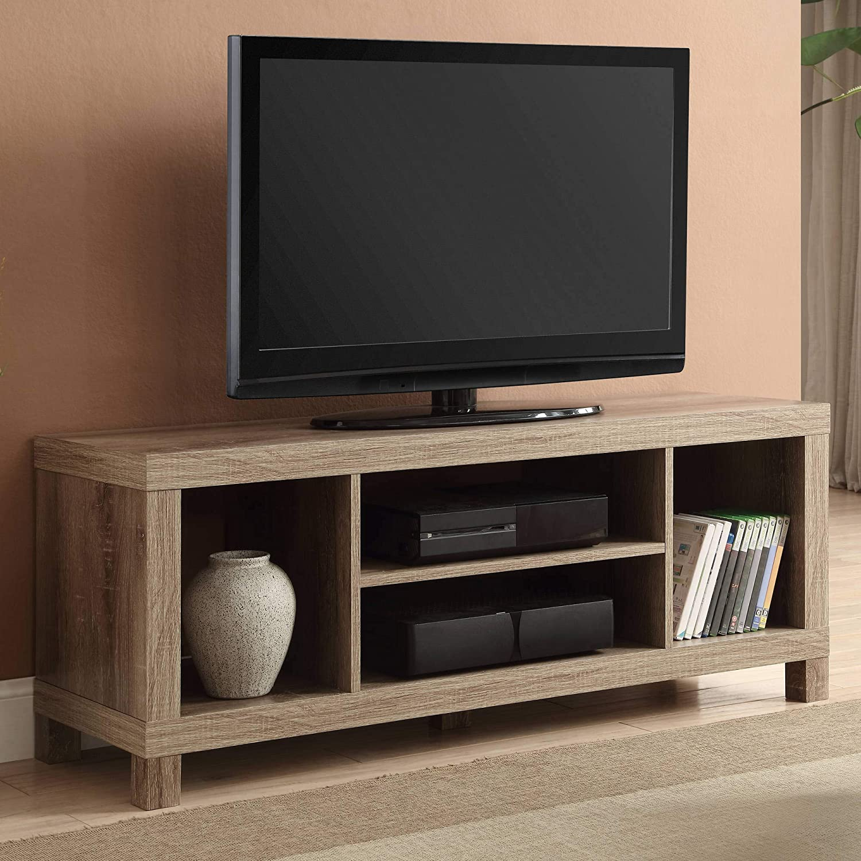 Generic Rustic Oak, 47.24 x 15.75 x 19.09 Inches Cross Mill TV Stand
