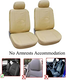 OPT® Brand. Tan Color Vinyl Leather 2 Front Car Seat Covers Fit Lincoln MKC MKZ MKX Navigator