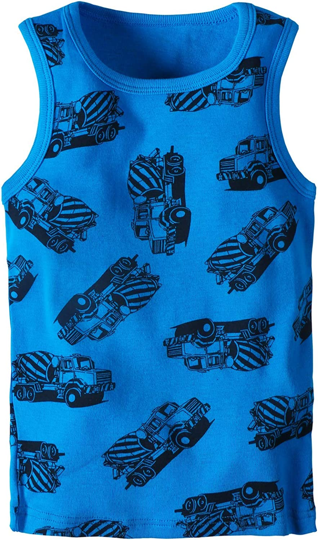 Huaer) Toddler Boys' 2-3 Pack Tank Tops (Blue Car, 5T)