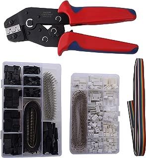 Yangoutool SN02BM Ratchet Crimping Tools,Dupont Ratcheting Crimper Plier Set with 1550pcs 2.54mm Dupont Connectors and 460pcs 2.54mm JST-XH Connectors for AWG 28-20