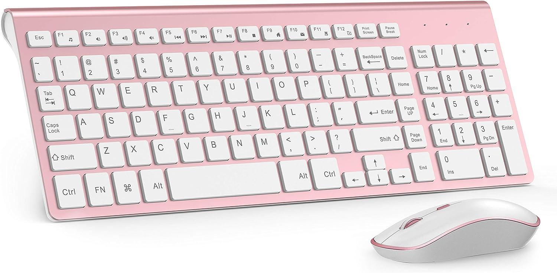 Wireless Keyboard Mouse, J JOYACCES (Pink)