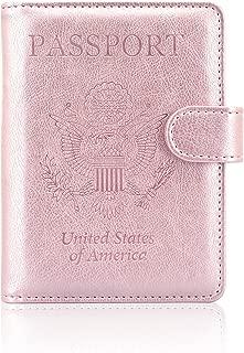 Passport Holder Case, ACdream Protective Premium Leather RFID Blocking Wallet Case for Passport,Rose Gold