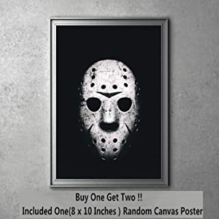 Blood Friday Jason Mask Moive Canvas Art Print 20 x 25 cm,Not Included Frame