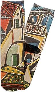 Mediterranean Landscape by Pablo Picasso Adult Crew Socks