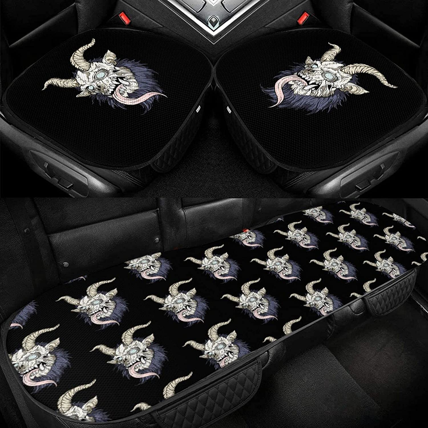 Horned Special price for a limited time Long-awaited Goat Devil Car Ice Seat Protection Cushion 3-Piece Cool