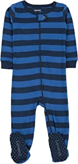 Leveret Striped Baby Boys Footed Pajamas Sleeper 100% Cotton Kids & Toddler Pjs (0 Months-5 Toddler)