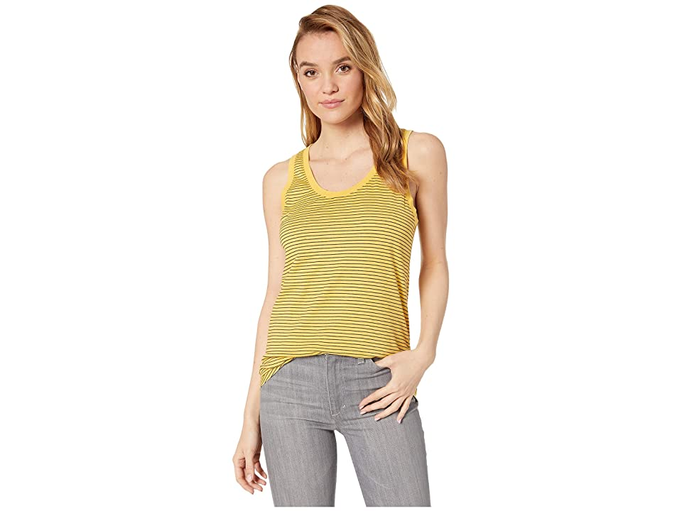 Image of AG Adriano Goldschmied Cambria Tank (Sunbaked Golden Ochre/True Black) Women's Clothing