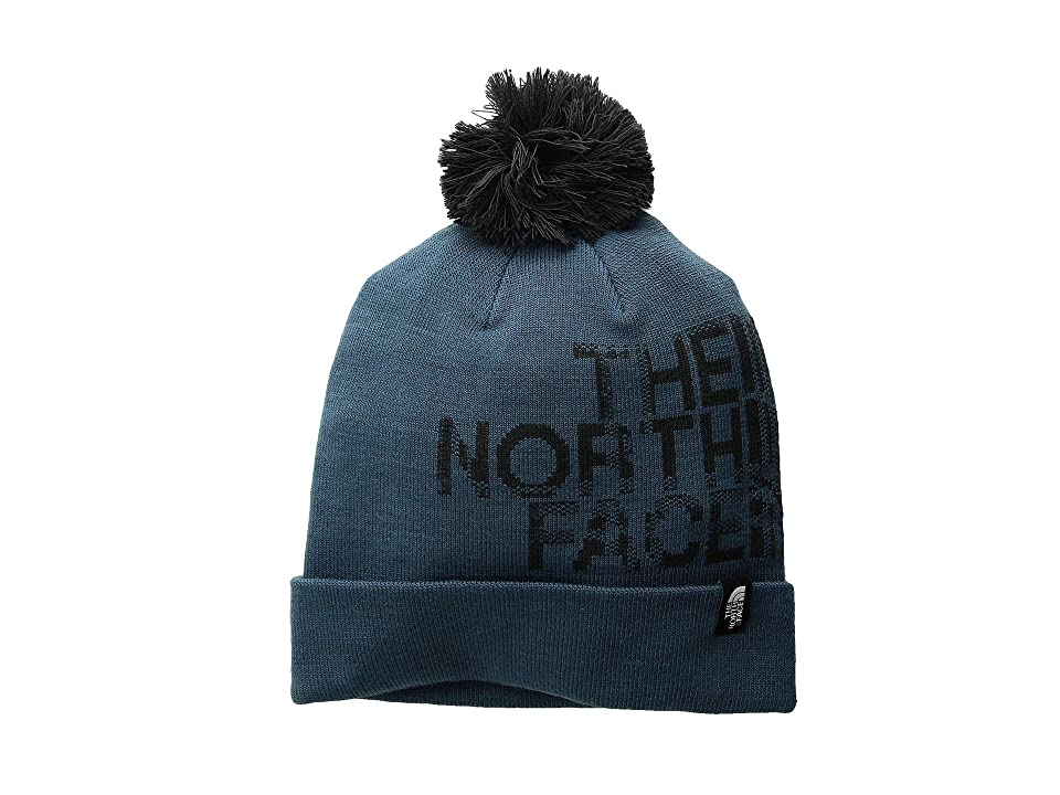 The North Face Ski Tuke V (Blue Wing/Teal Plaid Logo Jacquard) Beanies