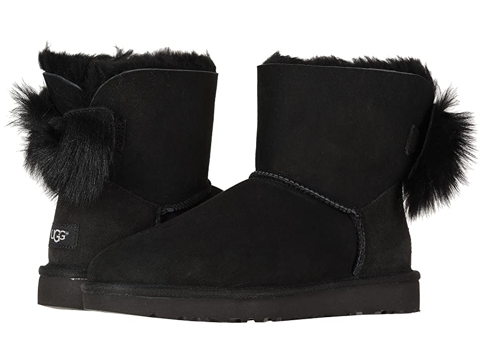 UGG Fluff Bow Mini (Black) Women