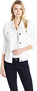white jean jacket fashion