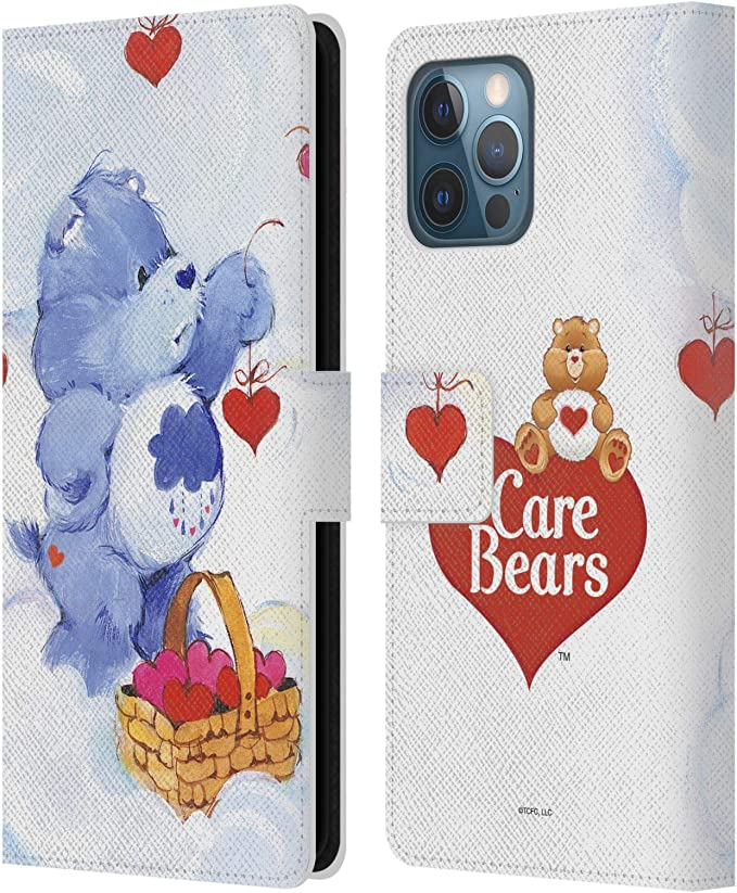 Head Case Designs Officially Licensed Care Bears Grumpy Classic Leather Book Wallet Case Cover Compatible with Apple iPhone 12 Pro Max