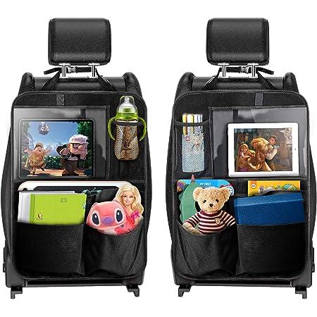 Tecboss Auto Rückenlehnenschutz 2 Stück Autositz Organizer Für Trittschutz Mit Rücksitz Organizer Multifunktionstaschen Und 12 9 Zoll Ipad Tablet Fach Baby