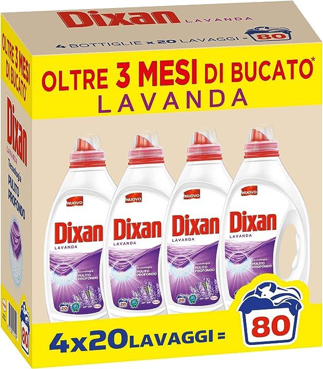 Detersivo bucato - dixan lavanda pulito profondo detersivo liquido lavatrice, 80 lavaggi 2558988