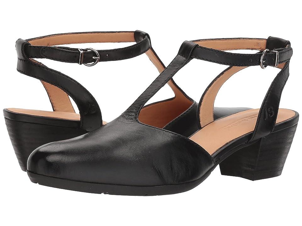 1930s Style Shoes – Art Deco Shoes Josef Seibel Sue 23 Black High Heels $150.00 AT vintagedancer.com