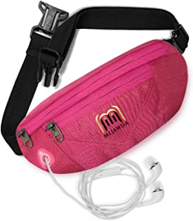 MEJAWDA Comfortable Running Waist Belt Bag Smart Phone Holder, Robust and Secure Fit Plus Pair UV Protection Arm Sleeve Co...