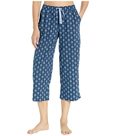 Karen Neuburger Sunday In Sorrento Capris Pants (Geo/Deep Navy) Women