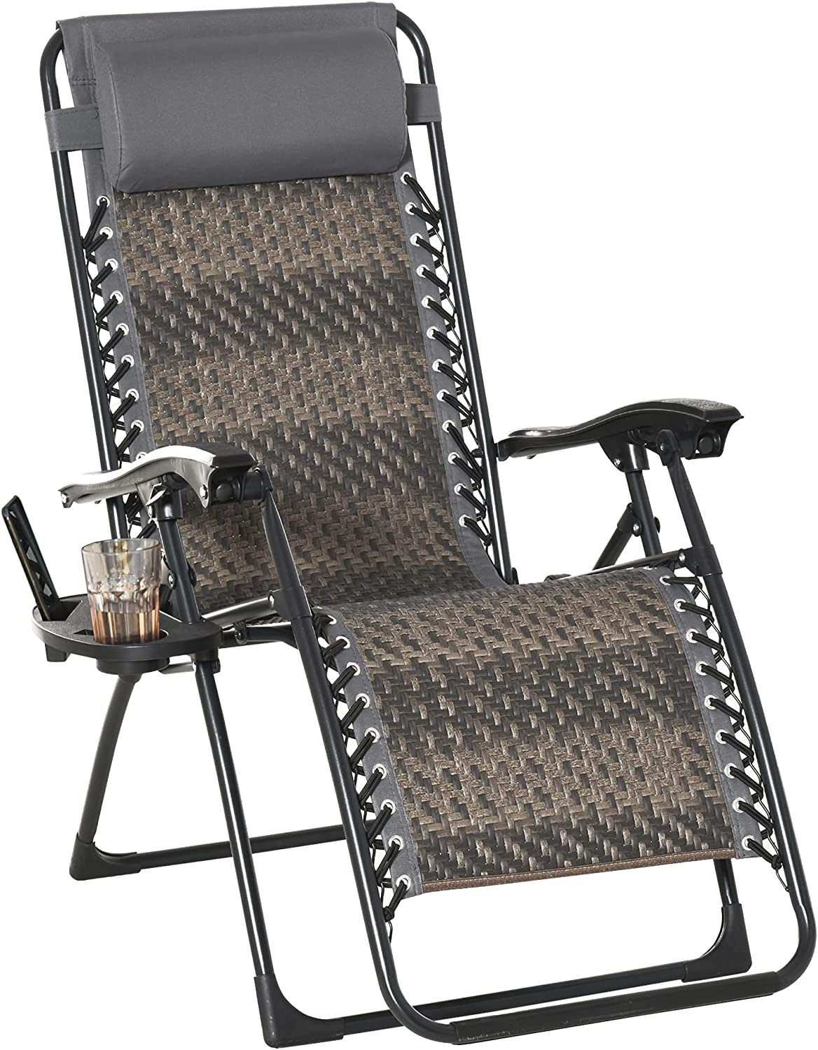 Outsunny Zero Gravity Lounge Ranking TOP13 Chair excellence Rattan Adjustable Loun Wicker