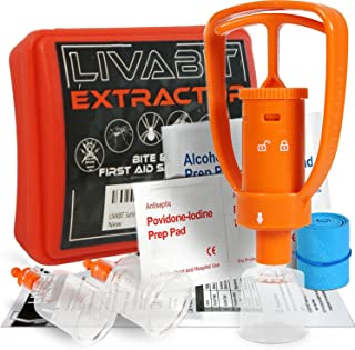 LIVABIT Snake Bite Kit, Bee Sting Kit, Emergency First Aid Venom Extractor Suction Pump for Camping, Hiking and Backpacking