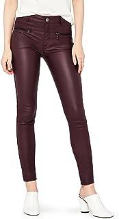 Marchio Amazon - find. Pu Coated Pantaloni skinny con effetto pelle, Donna