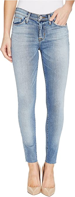 Nico Mid-Rise Ankle Raw Hem Super Skinny Five-Pocket Jeans in Ambitions