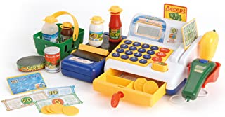 Toyrific TY5044 kassaspeelgoed, speelgoedkassa met scanner en speelgoedinkoppen, vanaf 3 jaar, h 14,5 x b 26 x d 19 cm
