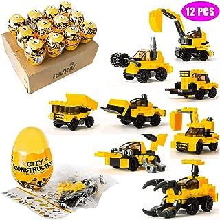RIVRIV Surprise 12 Filled Eggs Building Blocks Toys - Instructional 24 Different Shapes Age 6-12