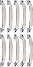 Klaxon Elite Brass Door Handle (Silver, Chrome Finish, Pack of 10)