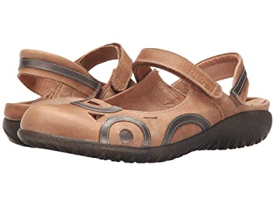Naot Rongo (Latte Brown Leather/Pewter Leather) Women