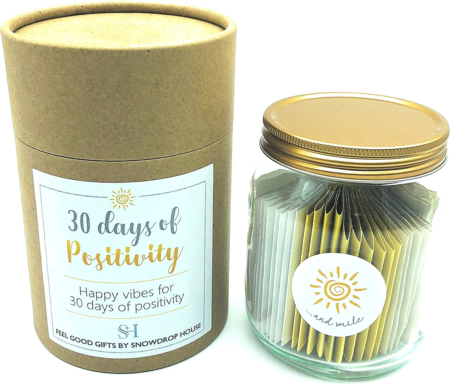 Positivity Unique Gift Jar 30 Days Of Happiness Affirmations Positive Vibes Happiness Tasks Positive Thinking Friendship Inspirational Powerful Thoughts Smiles Kindness Jar Amazon Co Uk Kitchen Home
