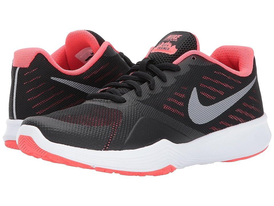 Nike City Trainer (Black/Metallic Cool Grey/Solar Red) Women