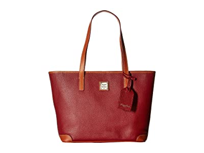 Dooney & Bourke Pebble Charleston Shopper (Wine) Tote Handbags