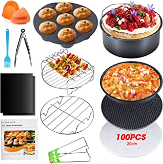 Apsung 8 Inch Air Fryer Accessories Set for Philips Air fryer XXL ,NINJA OP300,XL Air Fryer Accessories with Cookbook for ...