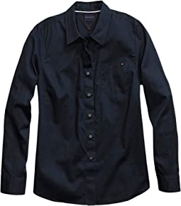 Magnetic Button Shirt Regular Fit Oxford