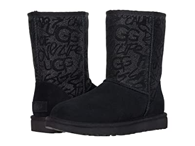 UGG Classic Short Sparkle Graffiti (Black) Women