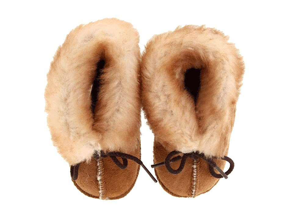 Minnetonka Kids Genuine Sheepskin Bootie (Infant/Toddler) (Golden Tan Sheepskin) Kids Shoes