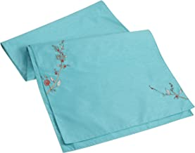 Lenox Chirp Embroidered 70-Inch Runner, Aqua