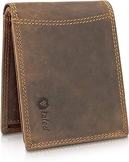 TALED Geldbörse Herren aus hochwertigem Vintage Leder mit RFID-Schutz - Geldbeutel inkl. E-Book zur Lederpflege - Portemon...