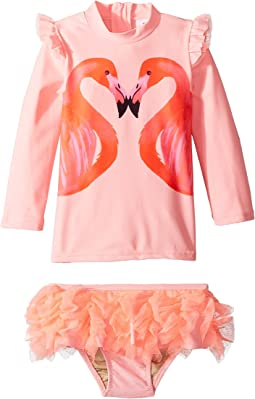 Flamingo A Go-Go Rashguard Set (Infant/Toddler)