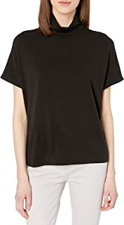 Daily Ritual Women's Soft Rayon Jersey Slouchy Pullover Top