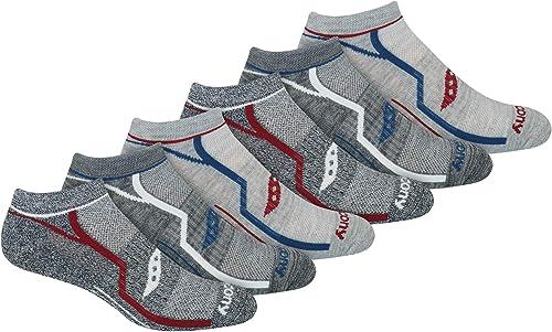 Saucony mens Multi-pack Bolt Performance Comfort Fit No-Show Socks