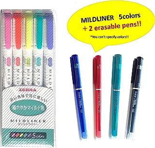Zebra MILDLINER Highlighter Pen Set (WKT7-5) (WKT7-5C-HC + DELAT2pc)