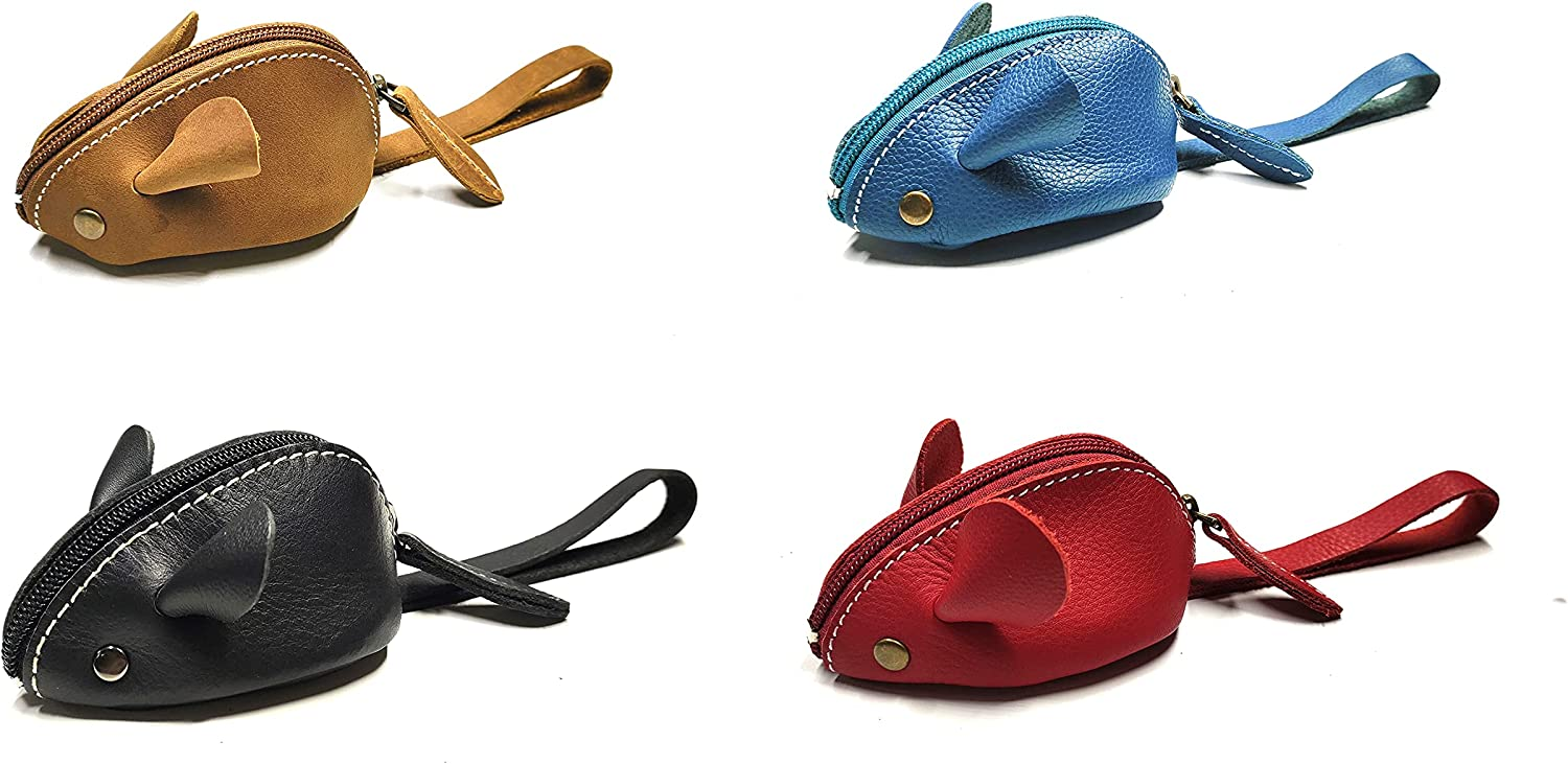 Genuine Leather Mouse Long Beach Mall Coin Purse wit Wallet Change sold out Womens