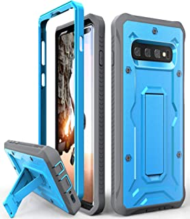 ArmadilloTek Vanguard Designed for Samsung Galaxy S10 Plus Case (2019 Release) Military Grade Full-Body Rugged with Kickstand Without Built-in Screen Protector (Blue)