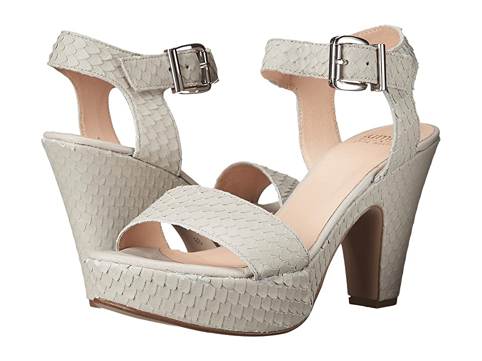 Summit by White Mountain Abrianna (Light Grey Exotic Leather) High Heels