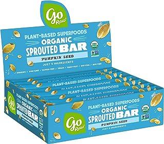 Go Raw Pumpkin Seed Bars | Keto | Gluten Free Snacks | Vegan | Organic | Paleo | Superfood (10 Bars)
