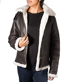 Veste en cuir ˆ capuche en cuir de mouton style B3 Aviator